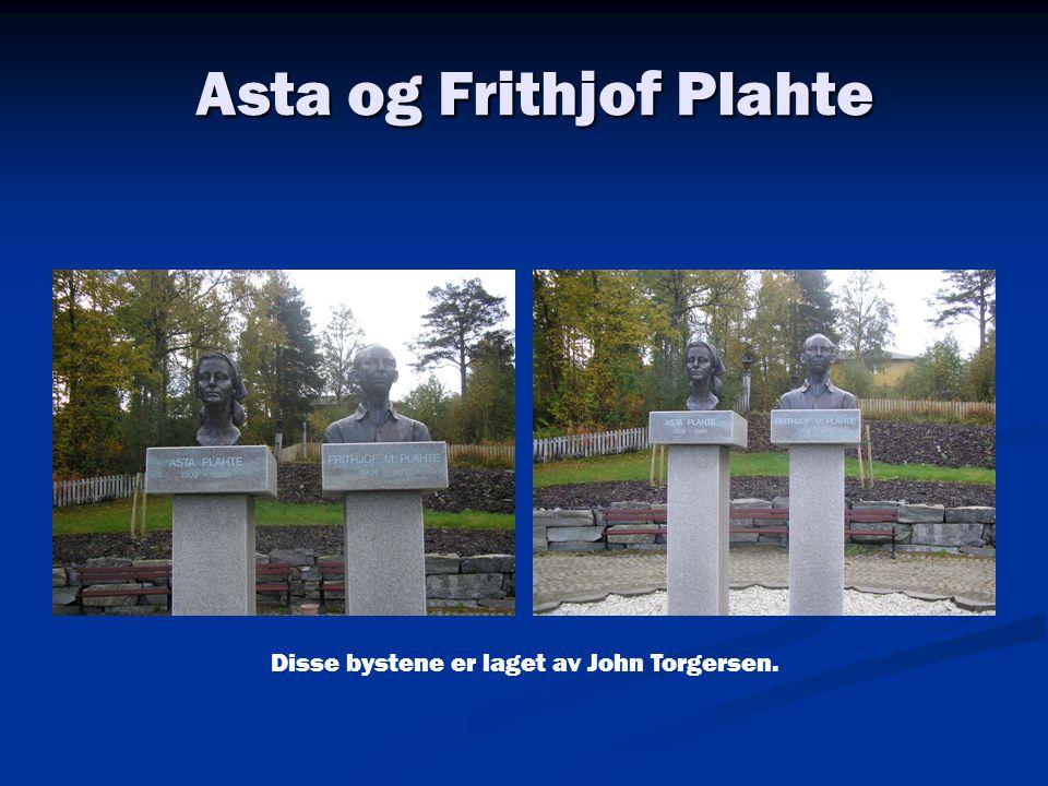 Asta og Frithjof Plahte Disse bystene er laget av John Torgersen.