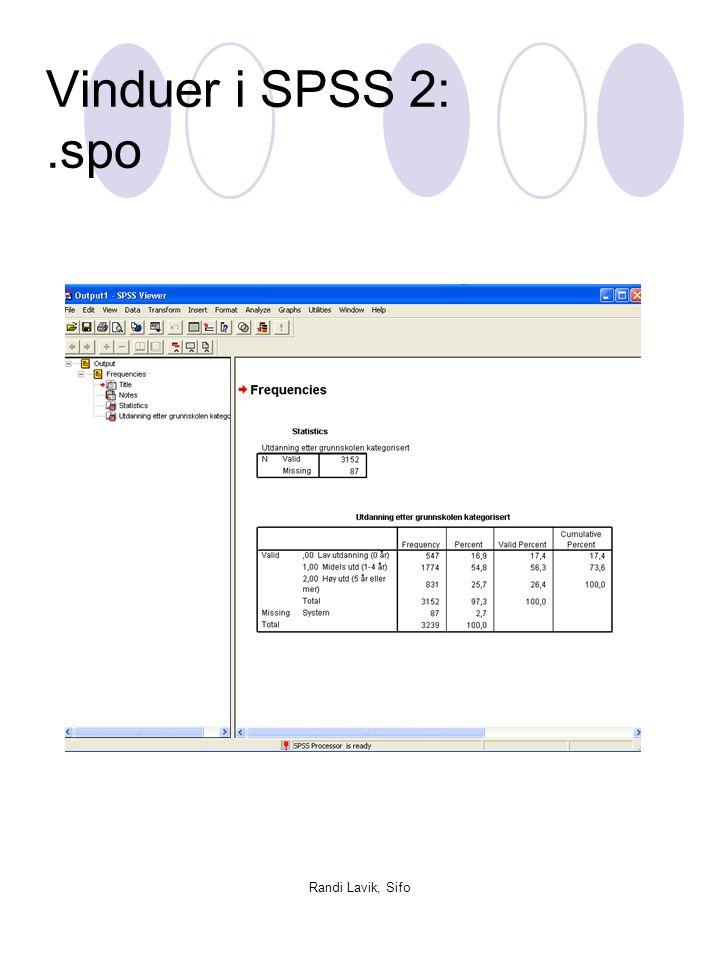 Randi Lavik, Sifo Redigeringsmuligheter i Output Hvis du har en skravert firkant rundt tabellen, får du tilgang til Format -menyen.