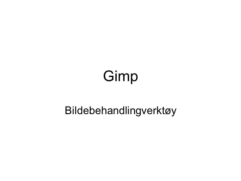 Gimp Bildebehandlingverktøy