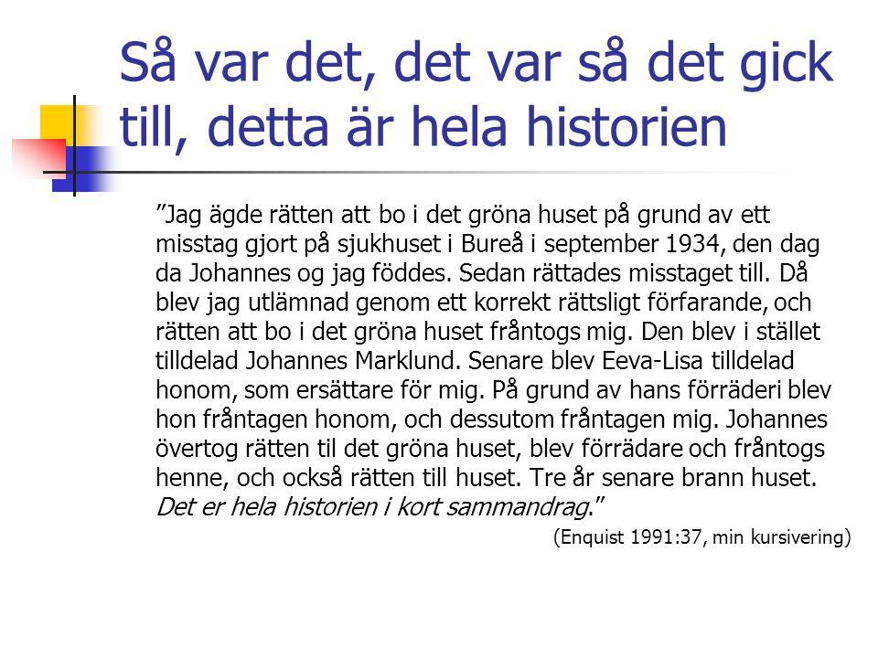 Presentasjon av romanen  Hvem. Bokens forteller Christian  Hva.