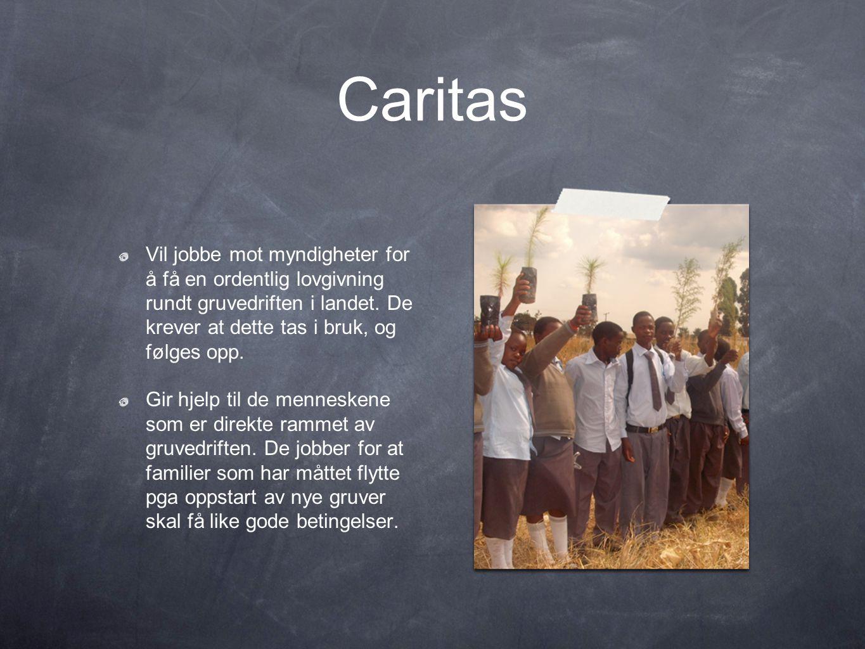 Caritas Vil jobbe mot myndigheter for å få en ordentlig lovgivning rundt gruvedriften i landet.