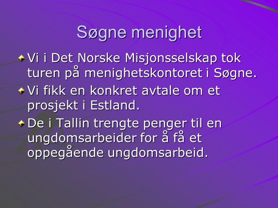 Søgne menighet Vi i Det Norske Misjonsselskap tok turen på menighetskontoret i Søgne.