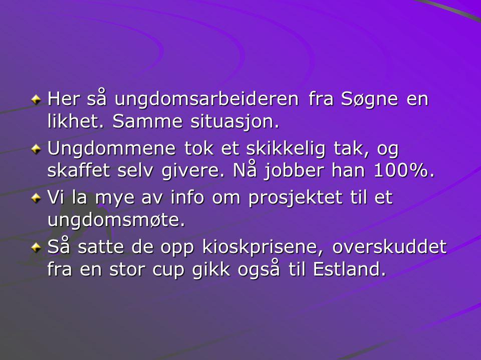 Her så ungdomsarbeideren fra Søgne en likhet. Samme situasjon.