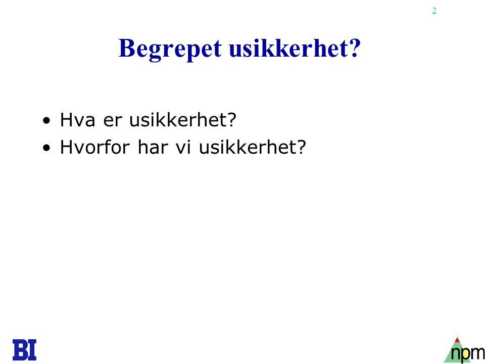 33 LFA-eksempel - atomkraftverk Knut Samset: Prosjektvurdering i tidligfasen