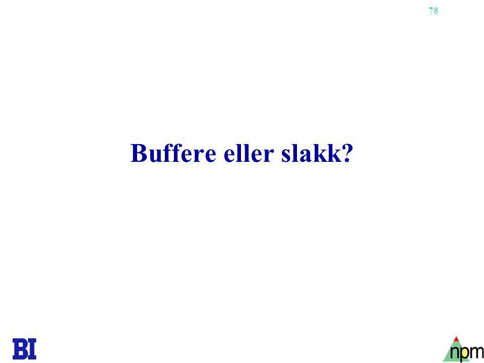 78 Buffere eller slakk?