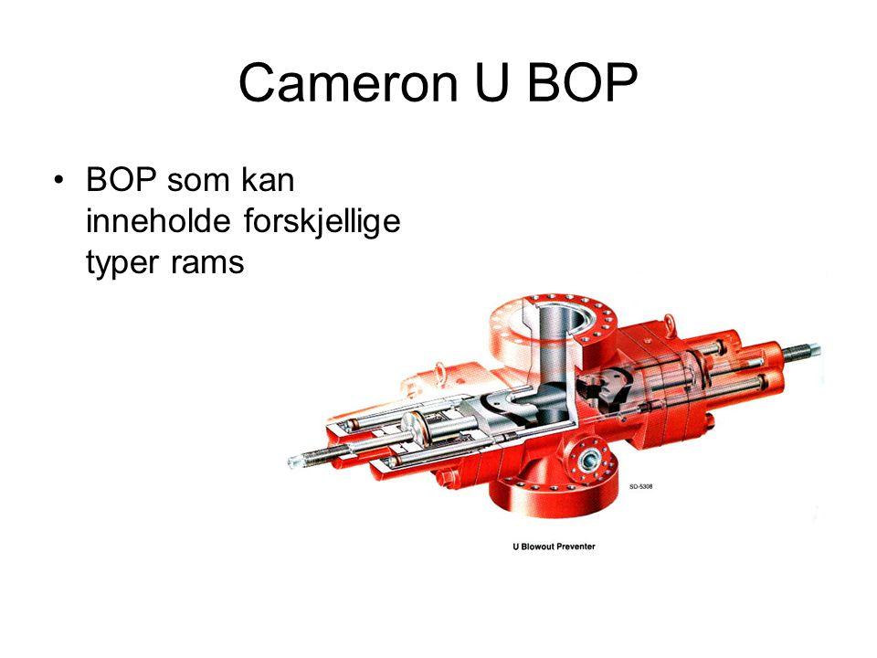 Cameron U BOP •BOP som kan inneholde forskjellige typer rams