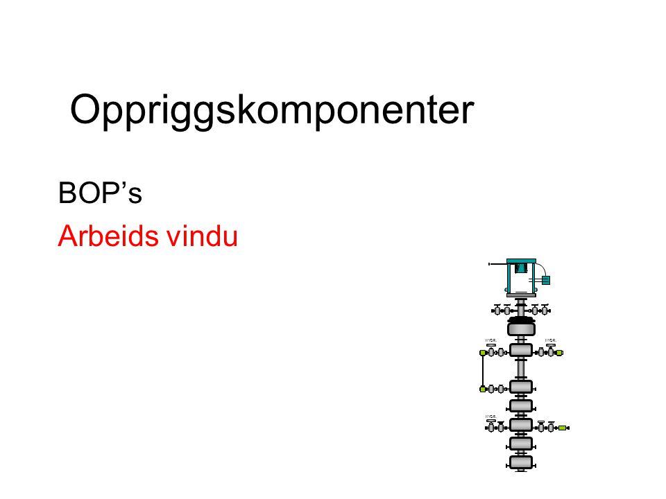Oppriggskomponenter BOP's Arbeids vindu HYDR.