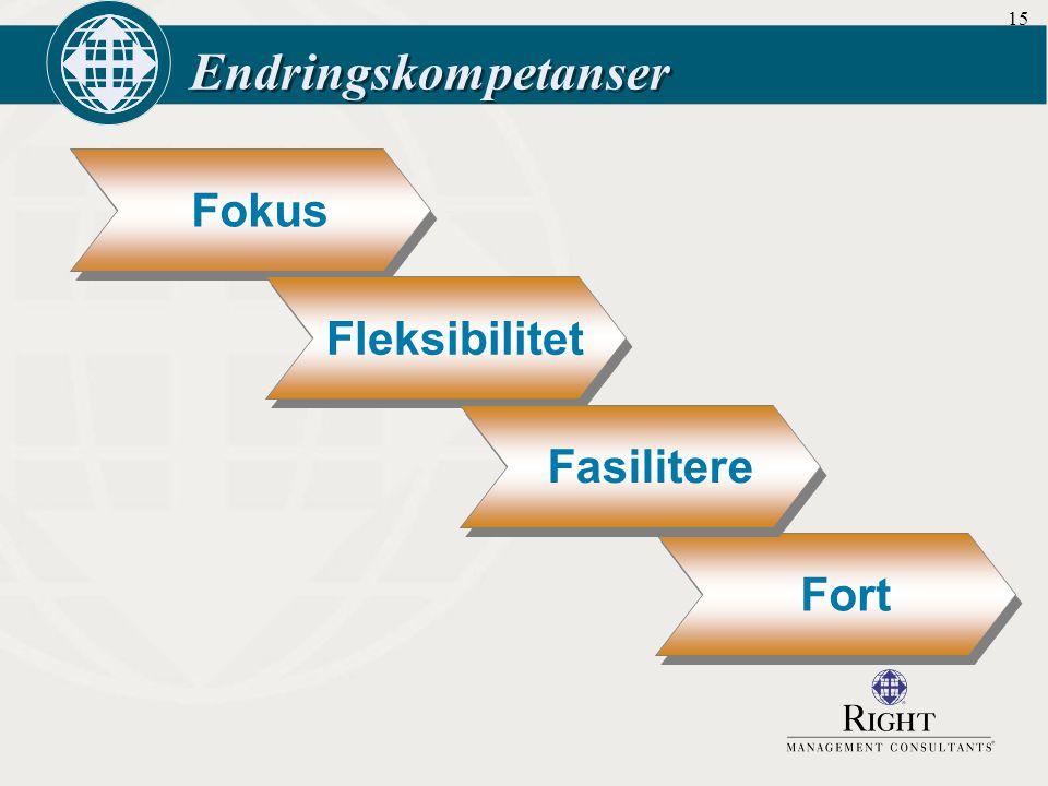 15 Endringskompetanser Fokus Fleksibilitet Fort Fasilitere