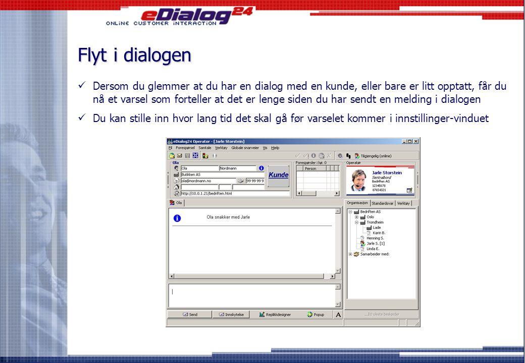 Mer informasjon om kunden (2) Høyreklikk Klikk  Og du kan nå se enda mer informasjon om kunden du har pratet med før