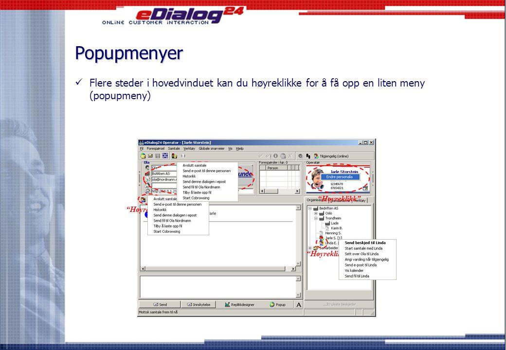 Ny og effektiv filoverføring*  Det er nå blitt svært enkelt å overføre filer mellom to operatører eller mellom operatør og kunde.