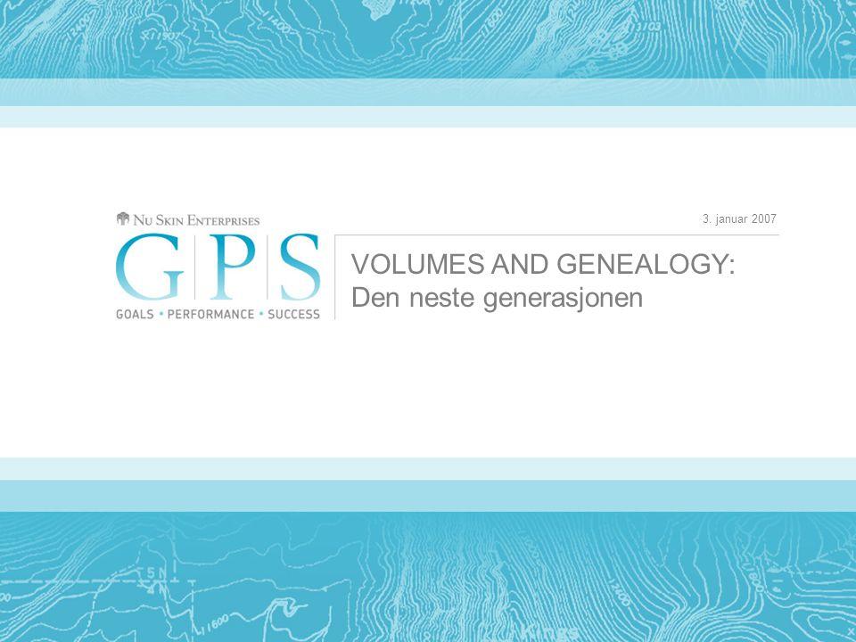 3. januar 2007 VOLUMES AND GENEALOGY: Den neste generasjonen