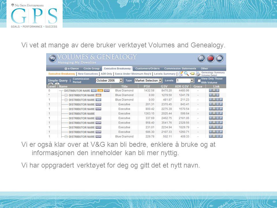 Vi vet at mange av dere bruker verktøyet Volumes and Genealogy.