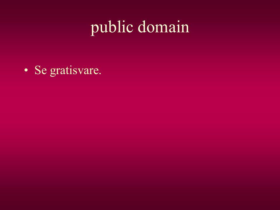 public domain •Se gratisvare.