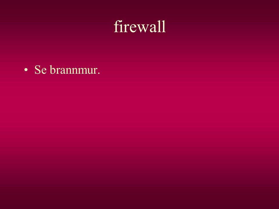 firewall •Se brannmur.