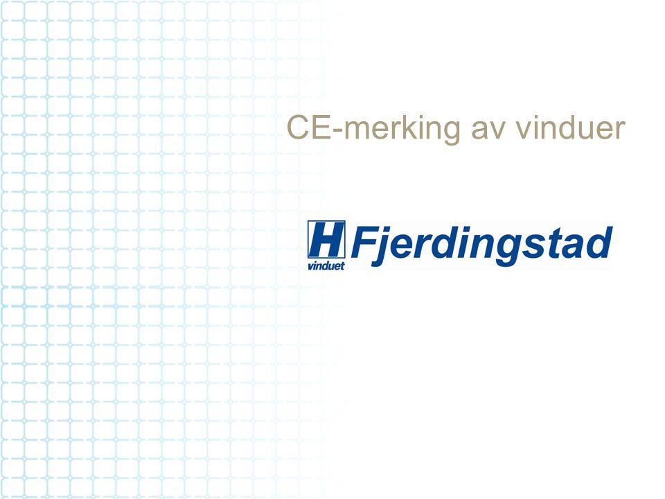 CE-merking av vinduer