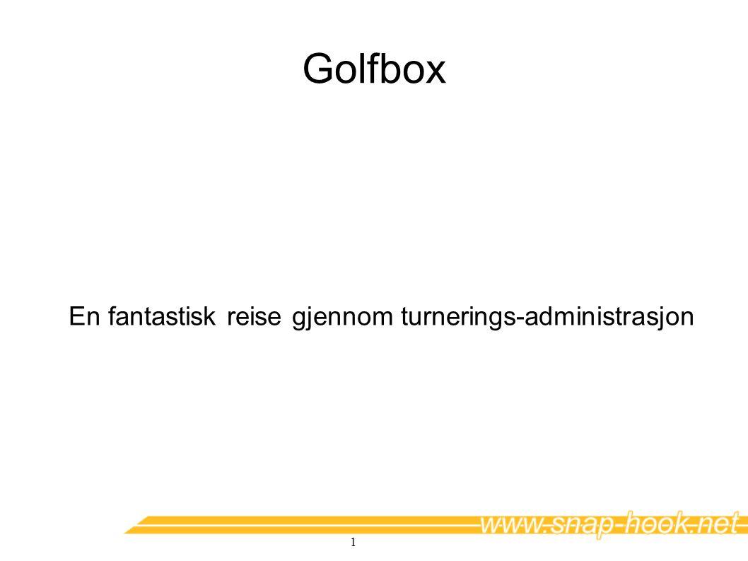1 Golfbox En fantastisk reise gjennom turnerings-administrasjon