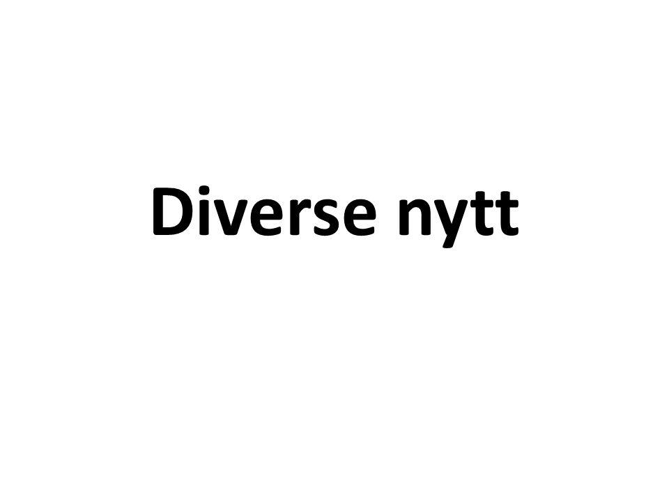Diverse nytt