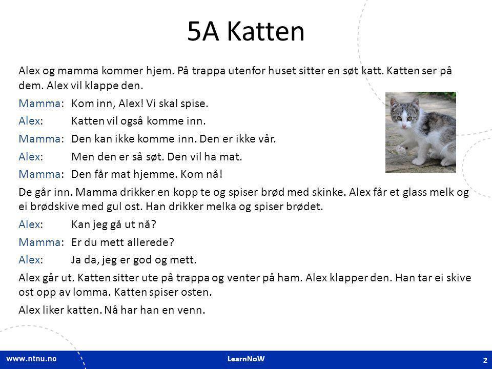 LearnNoW 5A.3 Adverbs: inn-inne, ut-ute, hjem-hjemme Alex og mamma kommer hjem til Osloveien 24 A.