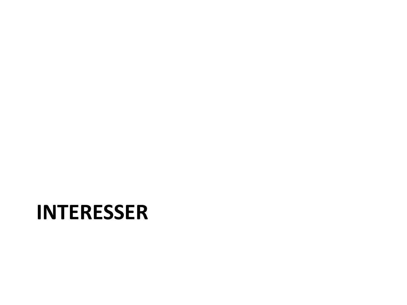 INTERESSER