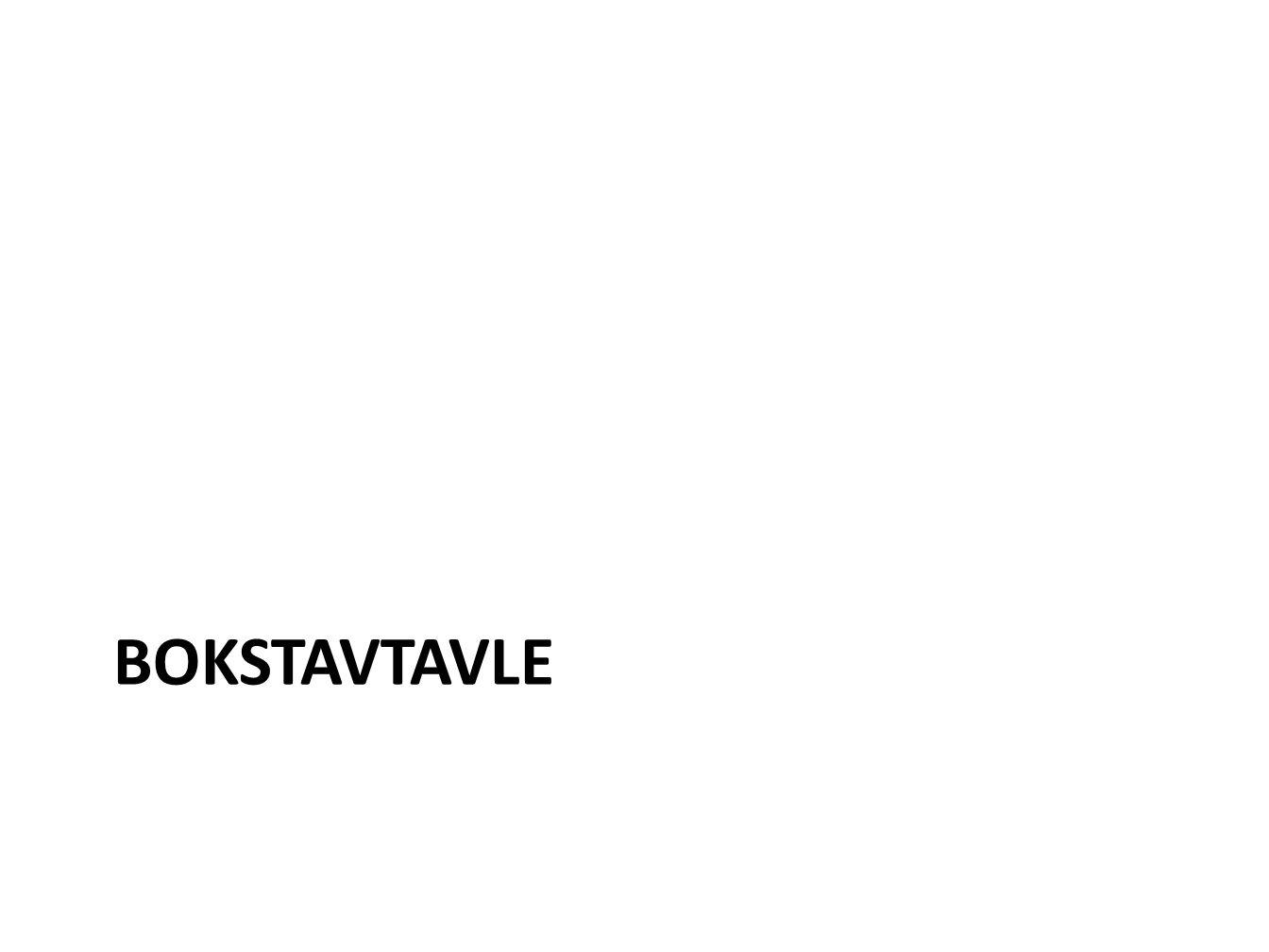 BOKSTAVTAVLE