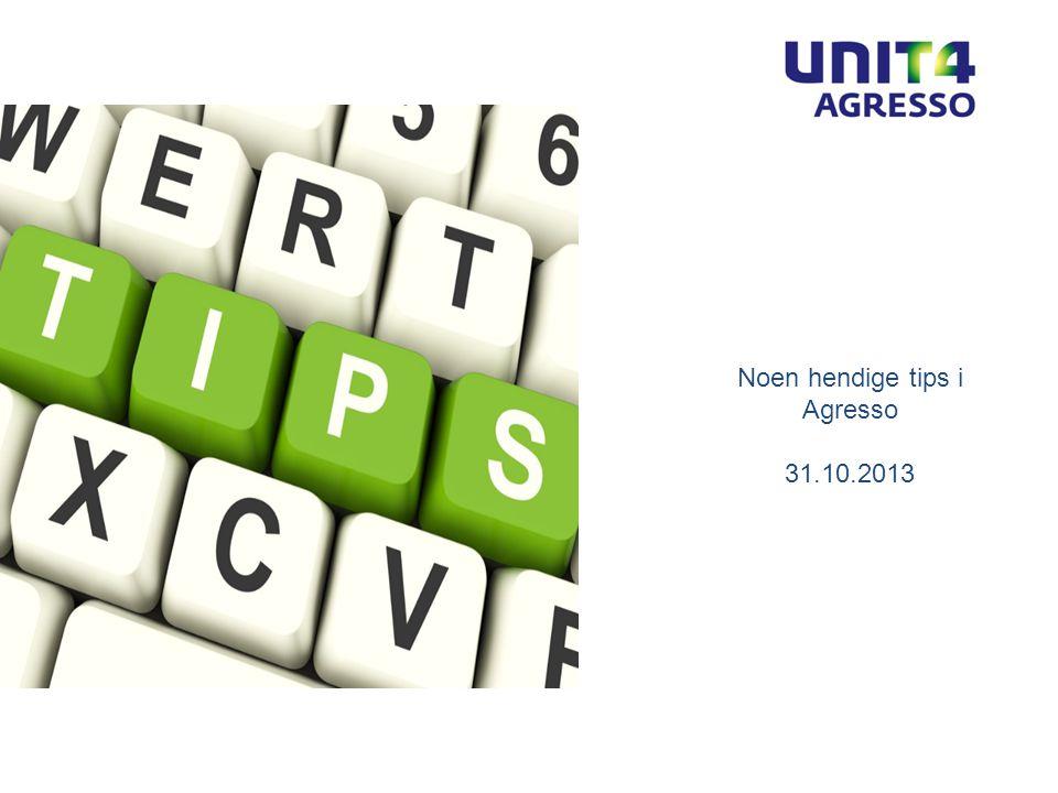 ODFJELL SE Bergen 06 | 02 | 2012 Invoice Manager Noen hendige tips i Agresso 31.10.2013