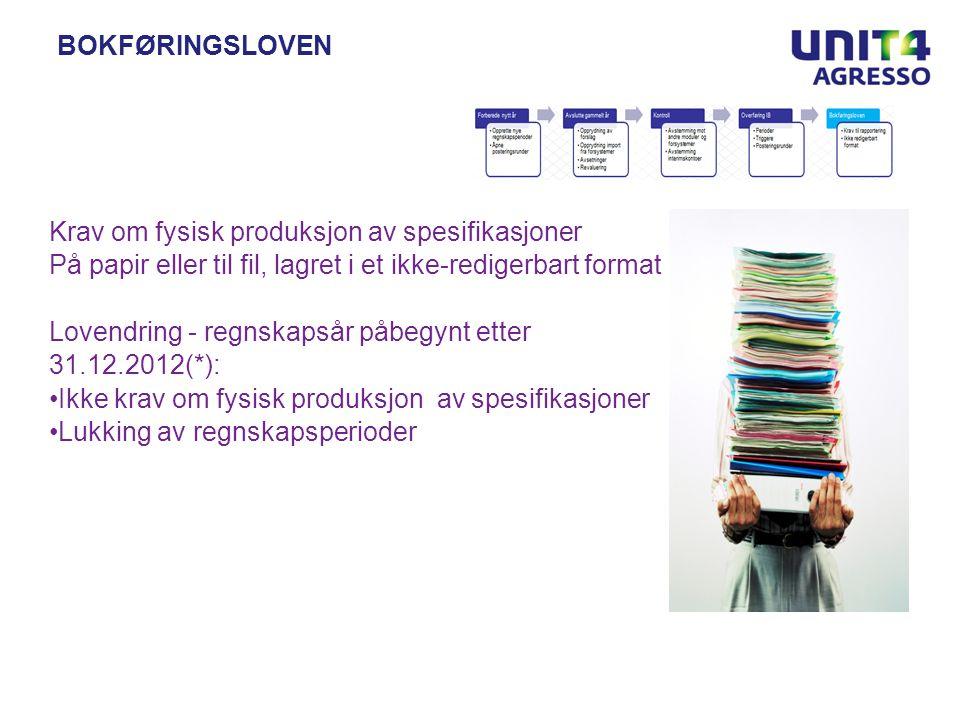06 | 02 | 2012side 42/45Odfjell SE BOKFØRINGSLOVEN Krav om fysisk produksjon av spesifikasjoner På papir eller til fil, lagret i et ikke-redigerbart f