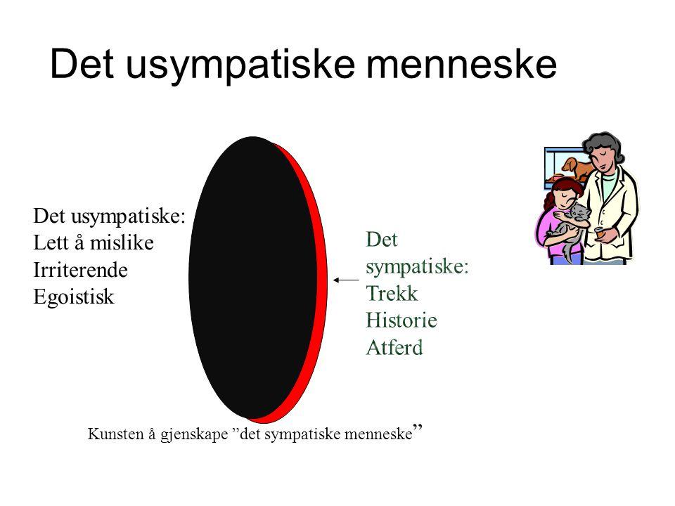 """Det usympatiske menneske Det usympatiske: Lett å mislike Irriterende Egoistisk Kunsten å gjenskape """"det sympatiske menneske """""""