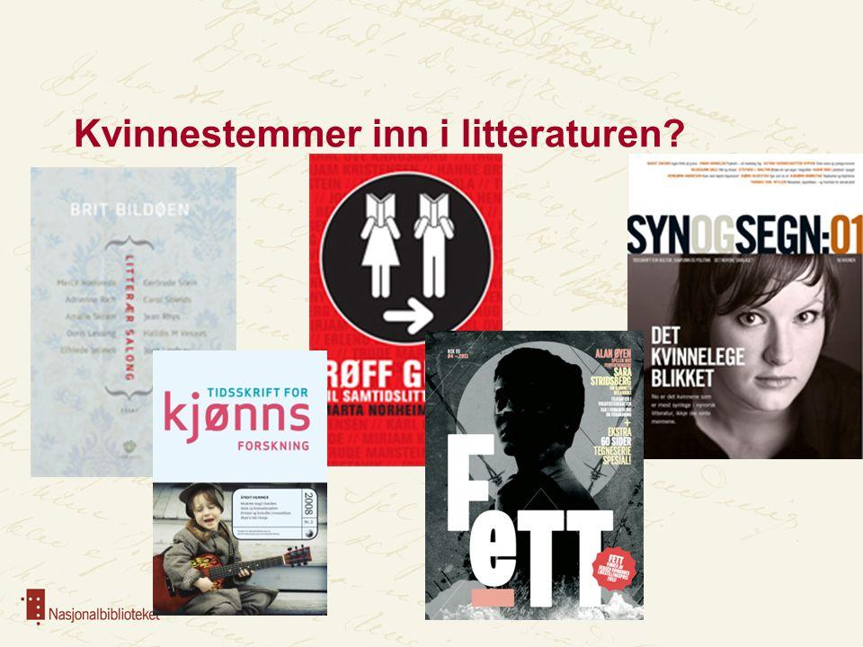 Kvinnestemmer inn i litteraturen?