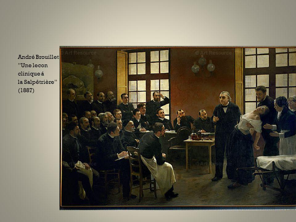 """André Brouillet: """"Une lecon clinique á la Salpêtrière"""" (1887)"""