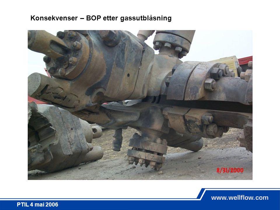 PTIL 4 mai 2006 Konsekvenser – BOP etter gassutblåsning