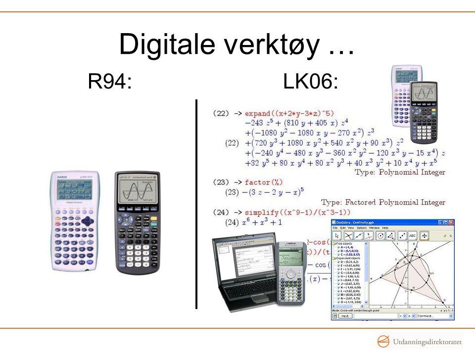 Digitale verktøy … R94: LK06:
