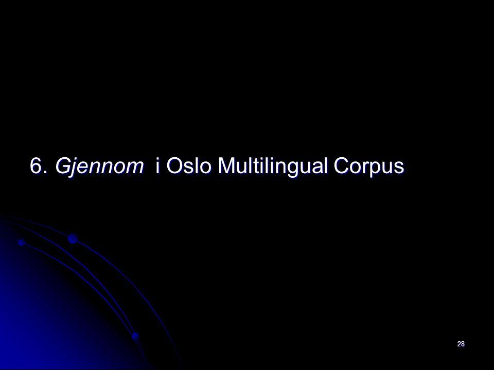 6. Gjennom i Oslo Multilingual Corpus 28