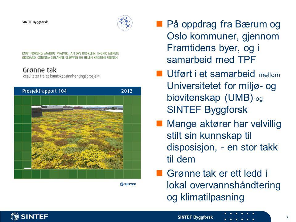 SINTEF Byggforsk  På oppdrag fra Bærum og Oslo kommuner, gjennom Framtidens byer, og i samarbeid med TPF  Utført i et samarbeid mellom Universitetet