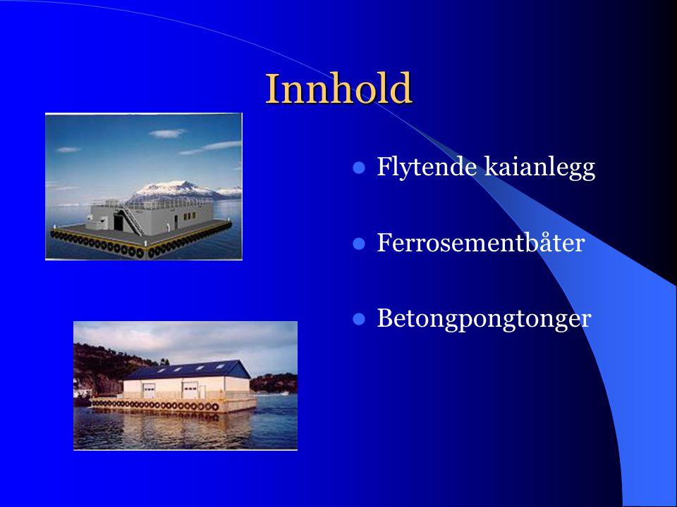 Innhold FFlytende kaianlegg FFerrosementbåter BBetongpongtonger