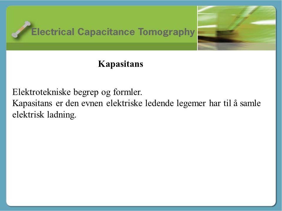 Kapasitans - Martin Elektrotekniske begrep og formler. Kapasitans er den evnen elektriske ledende legemer har til å samle elektrisk ladning. Kapasitan