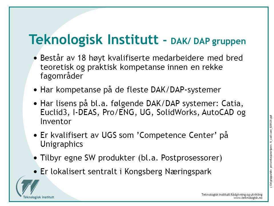Teknologisk institutt Rådgivning og utvikling www.teknologisk.no j:\3d gruppa\div.