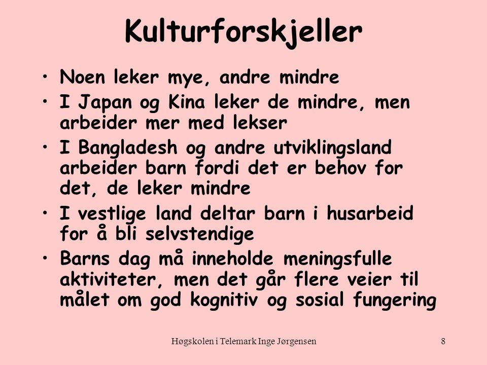 Høgskolen i Telemark Inge Jørgensen19 Status og atferd •Fedre oppfordrer guttene til å oppføre seg som gutter.