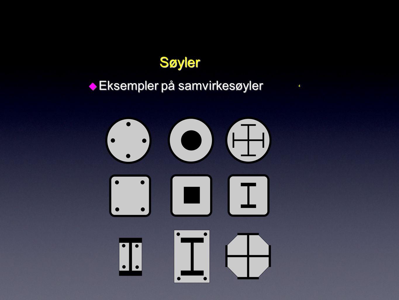 4 Søyler u Eksempler på samvirkesøyler