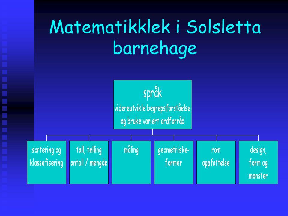 -Språk- utvikling av begreper Videreutvikle begrepsforståelse og bruke et variert ordforråd
