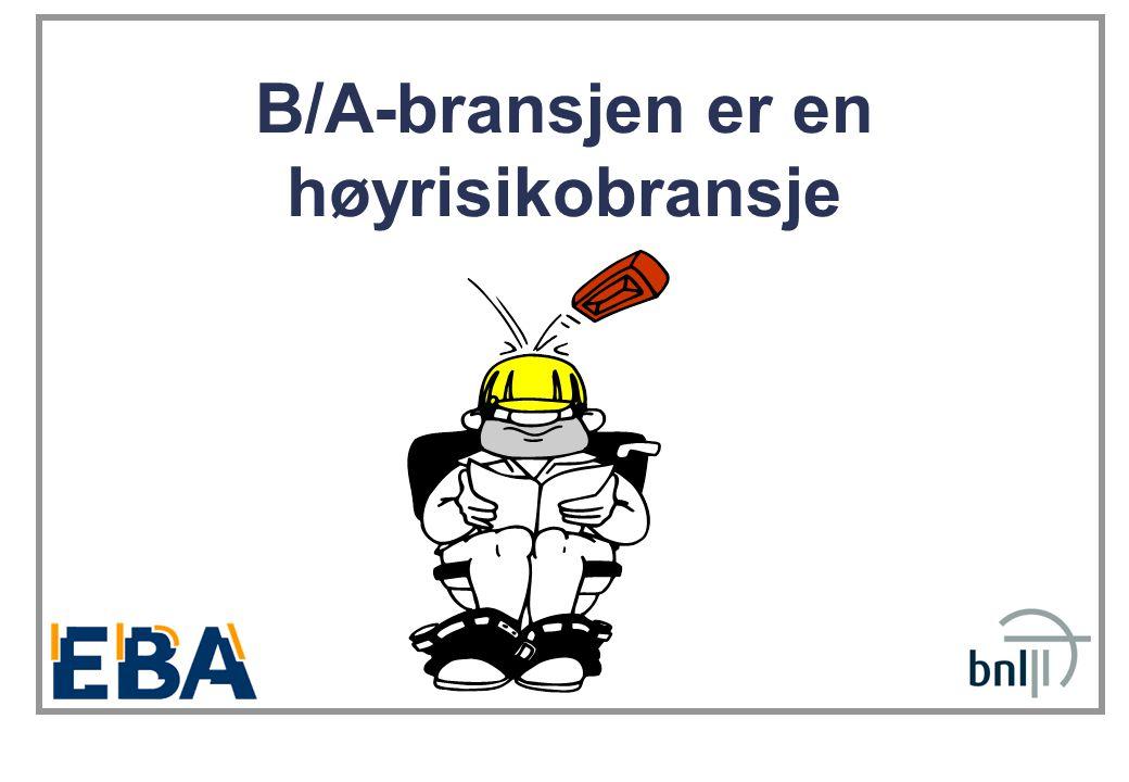 B/A-bransjen er en høyrisikobransje