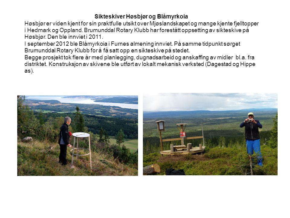 Sikteskiver Høsbjør og Blåmyrkoia Høsbjør er viden kjent for sin praktfulle utsikt over Mjøslandskapet og mange kjente fjelltopper i Hedmark og Opplan