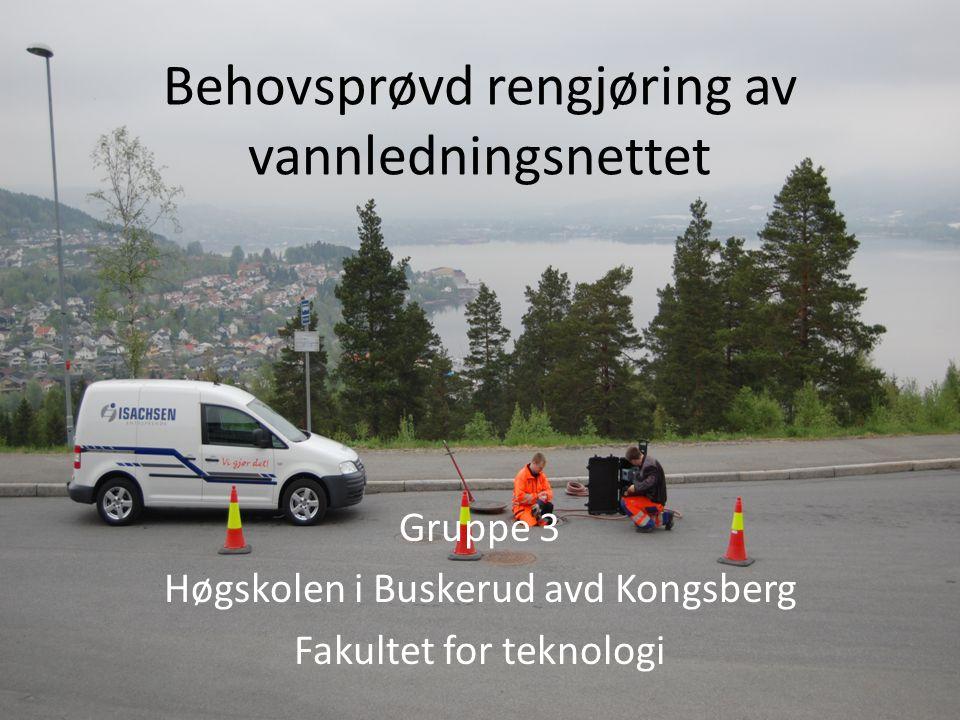 Behovsprøvd rengjøring av vannledningsnettet Gruppe 3 Høgskolen i Buskerud avd Kongsberg Fakultet for teknologi