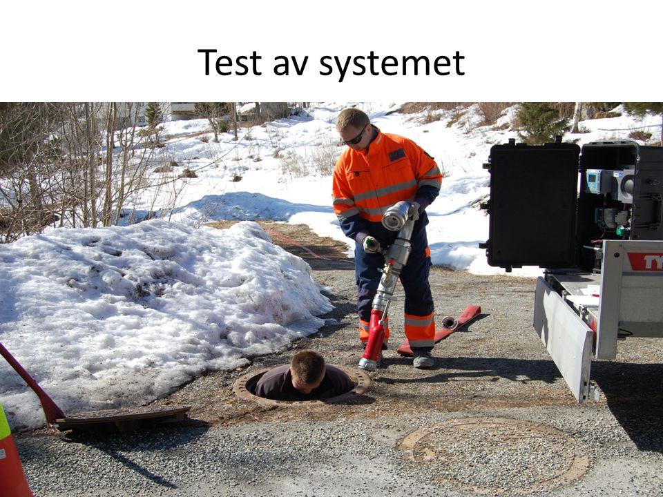 Test av systemet
