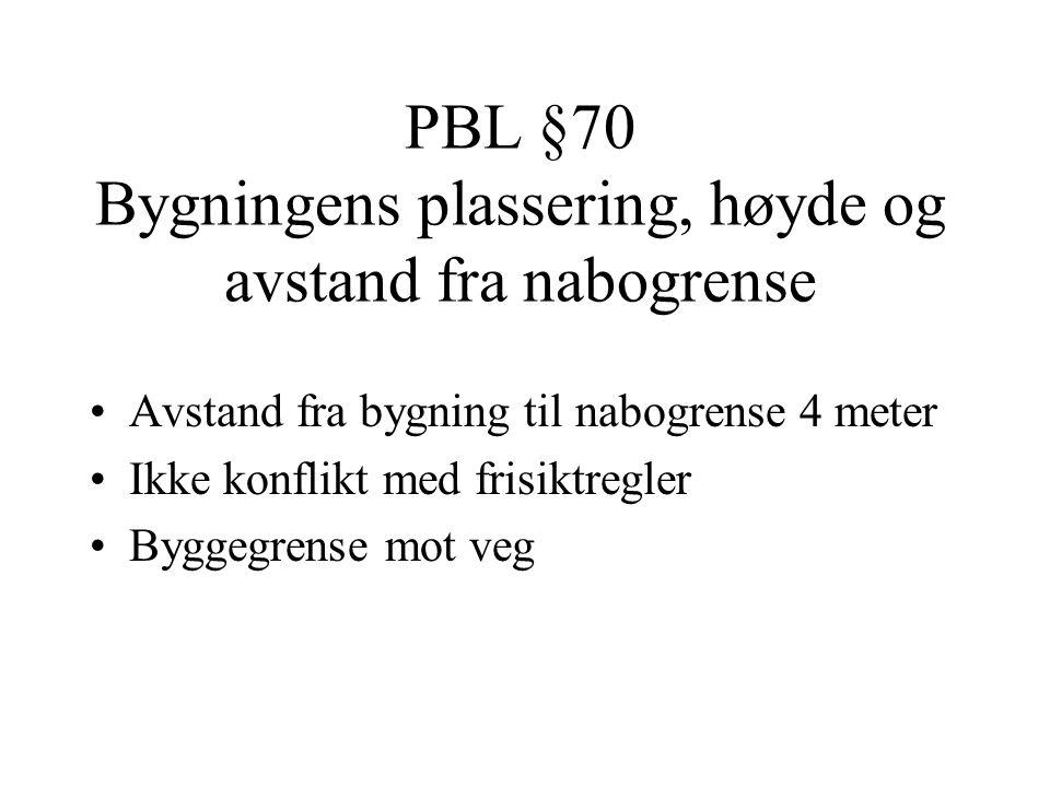 PBL §17.2 Forbud mot bygging og fradeling i 100-metersbeltet langs sjøen •Plassering ikke nærmere enn 100 meter fra strandlinjen