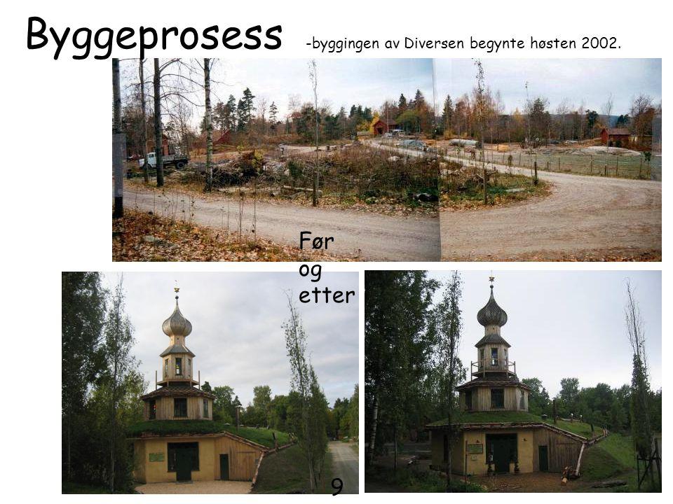 Før og etter Byggeprosess -byggingen av Diversen begynte høsten 2002. 9