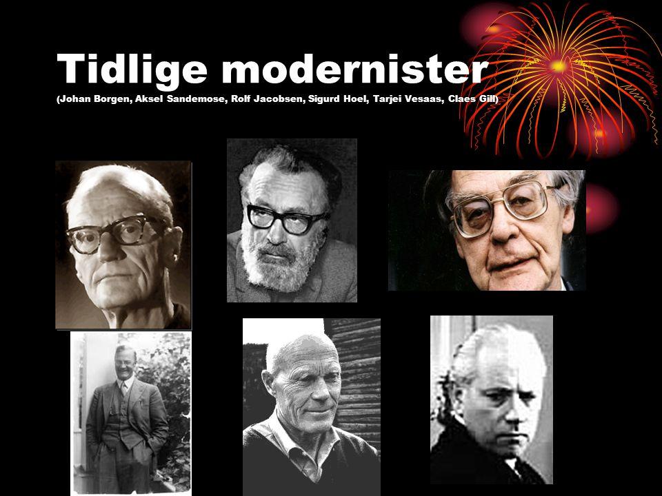 Realismen (modernismen starter altså i Norge på 1890-tallet for så å dukke opp igjen etter rett før 2.
