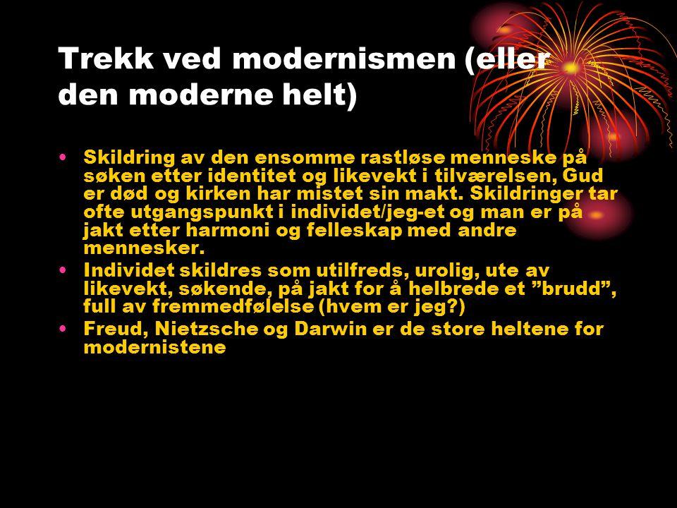 Postmodernismen (1985- til i dag) •Knyttet til sosiologene Jean Baudrillard og Jean-Francois Lyotard •Oppgjør med totalitetstenkning og helhetstenkning (holistisk tenkning – å se helheten, mye brukt i alt.