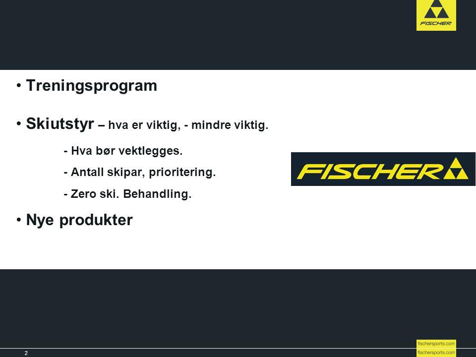 2 Line-up 08l09 // Nordic // Ski // Racing Title • Treningsprogram • Skiutstyr – hva er viktig, - mindre viktig. - Hva bør vektlegges. - Antall skipar