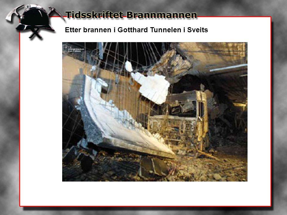 Etter brannen i Gotthard Tunnelen i Sveits