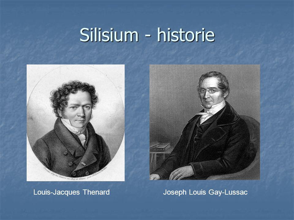Silisium - historie Louis-Jacques Thenard Joseph Louis Gay-Lussac